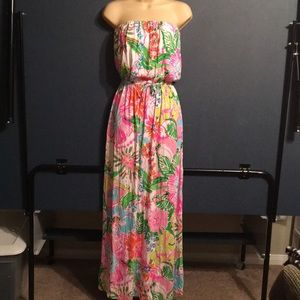 Lilly Pulitzer for target strapless maxi dress S/P